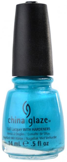 China Glaze Turned Up Turquoise (Neon) nail polish