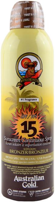 Australian Gold Sunscreen Continuous Spray w/ Bronzer SPF 15 (6 fl. oz. / 177 mL)