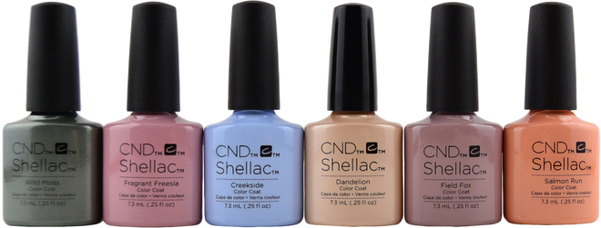 6 pc CND Shellac Flora & Fauna Collection