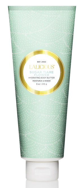 Lalicious Small Sugar Tiare Flower Hydrating Body Butter (8 oz. / 226 g)