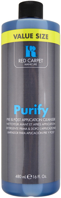 Red Carpet Manicure Value Size Purify Pre & Post Application Cleanser (16 fl. oz. / 480 mL)