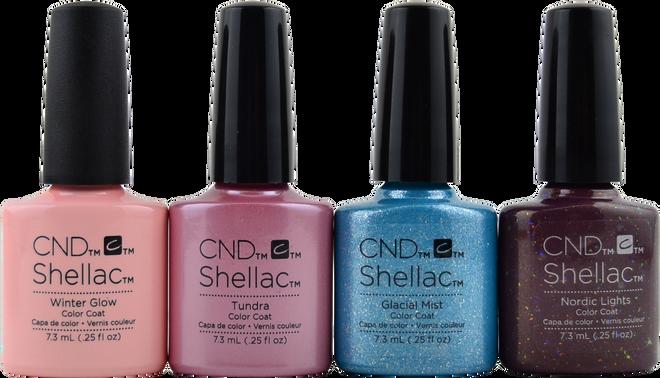 4 pc CND Shellac Aurora Collection