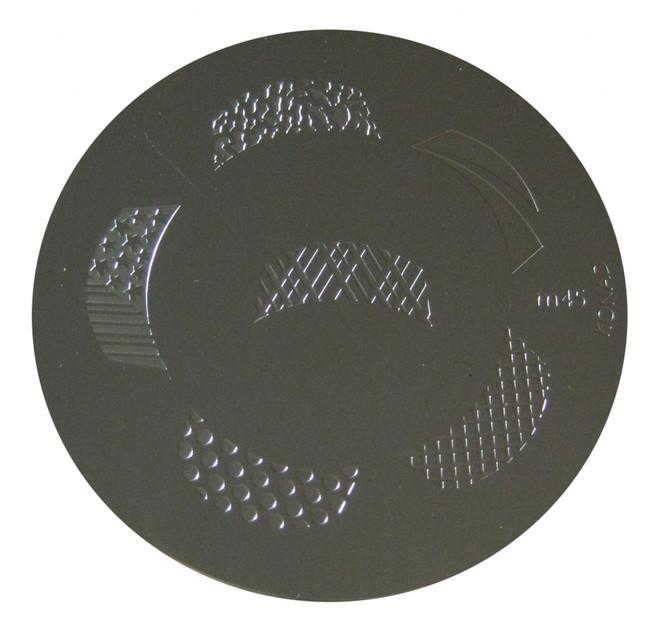 Image Plate #M45 (Nail Tips, Lepord Print, Dots, More/Usa Flag, Lattice) by Konad Nail Stamping