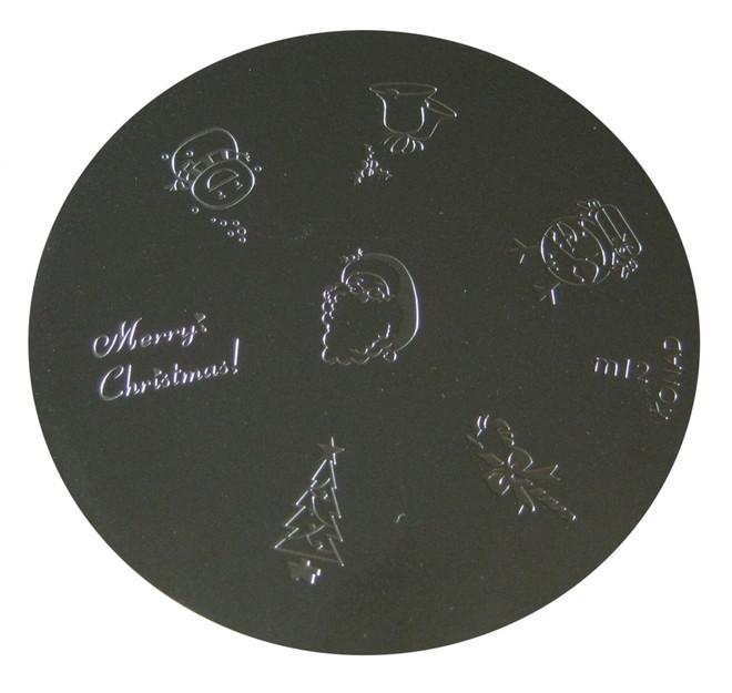 Image Plate #M12 (Holiday, Words, More/Snowman, Santa, Tree) by Konad Nail Stamping