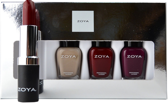 Zoya 4 pc Rosy Cheeks Lips & Tips Set