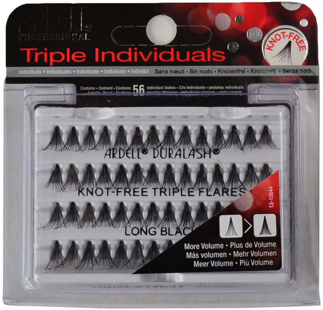 Ardell Lashes Triple Individuals Knot-Free Flares Long Black Ardell Lashes