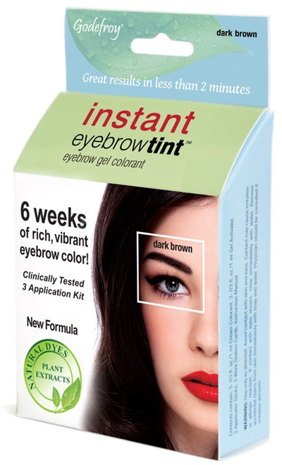 Godefroy Dark Brown Instant Eyebrow Tint Kit