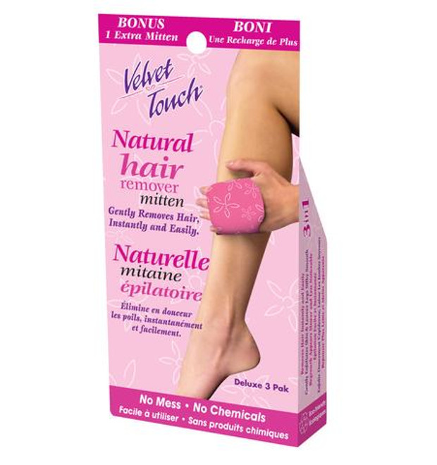 Velvet Touch Natural Hair Remover Mitten
