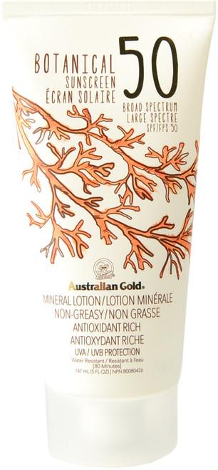 Australian Gold Botanical Sunscreen Mineral Lotion SPF 50 (5 fl. oz. / 147 mL)