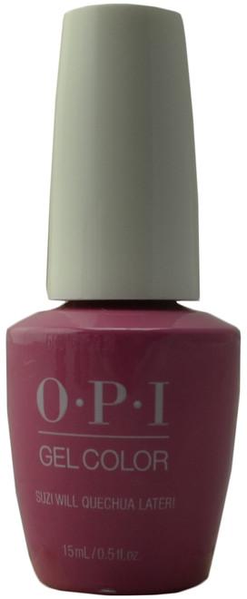 OPI Gelcolor Suzi Will Quechua Later! (UV / LED Polish)