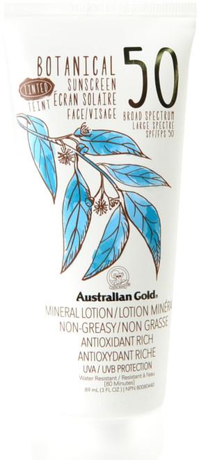 Australian Gold Tinted Botanical Sunscreen Mineral Lotion SPF 50 (3 fl. oz. / 89 mL)