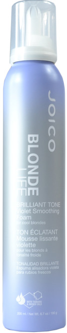 JOICO Blonde Life Brilliant Tone Violet Smoothing Foam Styler (6.7 oz. / 190 g / 200 mL)