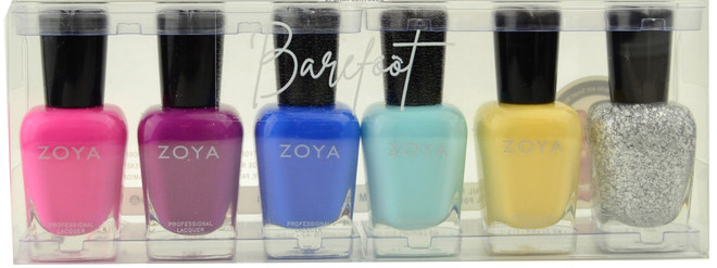Zoya 6 pc Barefoot Collection B