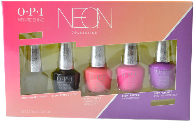 OPI Infinite Shine 5 pc Neon 2019 Mini Set (Week Long Wear)
