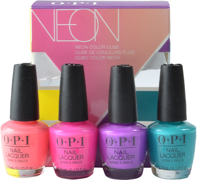 OPI 4 pc Neon 2019 Mini Cube Set