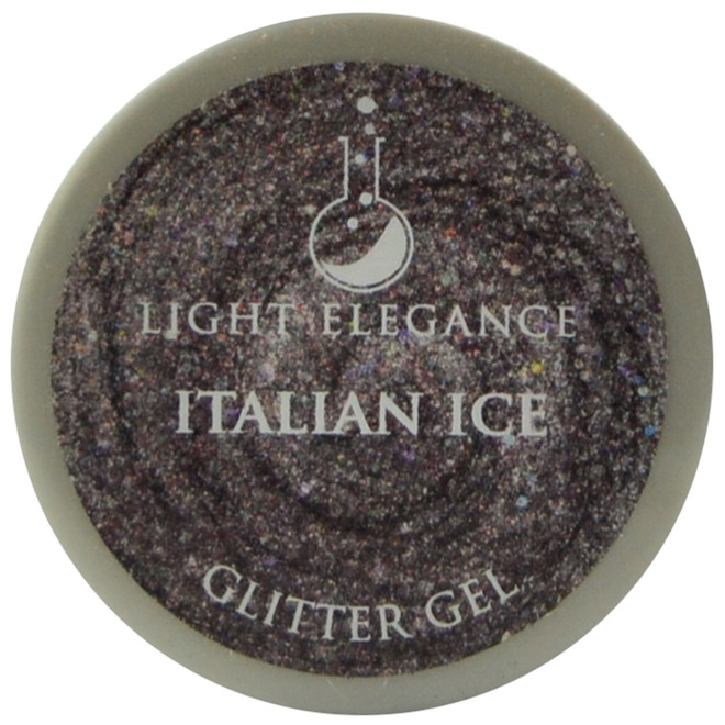 Light Elegance Italian Ice Glitter Gel (UV / LED Gel)