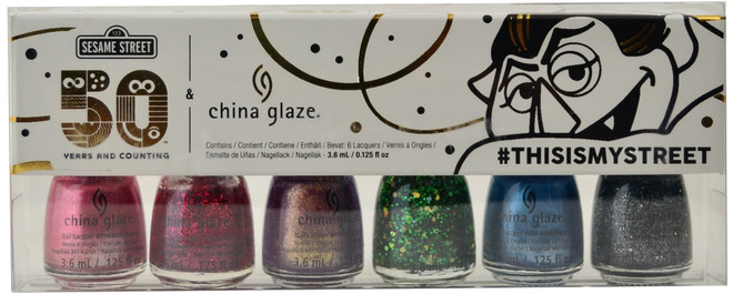 China Glaze 6 pc Sesame Street Holiday 2019 Mini Set