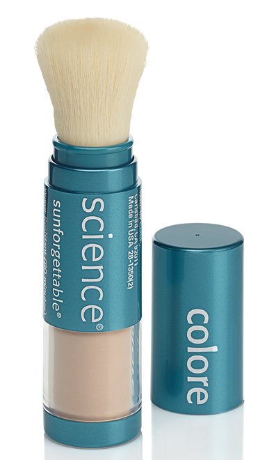 Colorescience Sunforgettable Loose Mineral Sunscreen Brush SPF 50 (0.21 oz. / 6 g)