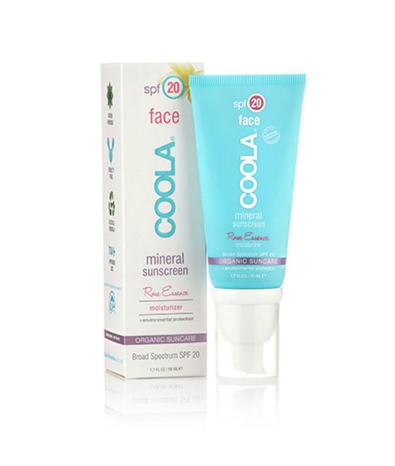 Coola Sunscreen Mineral Face SPF 20 Rose Essence Tinted Sunscreen (1.7 fl. oz. / 50 mL)