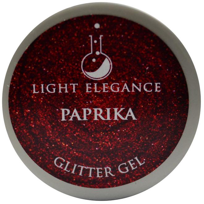 Light Elegance Paprika Glitter Gel (UV / LED Gel)