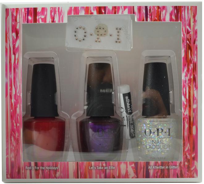 OPI 3 pc Shine Bright Set (w/ Nail Art Glue & Crystals)