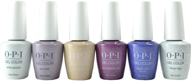 OPI Gelcolor 6 pc High Definition Glitters Collection