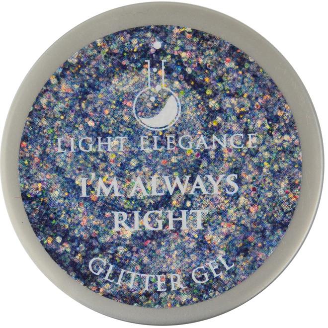Light Elegance I'm Always Right Glitter Gel (UV / LED Gel)