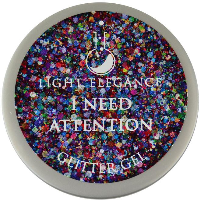 Light Elegance I Need Attention Glitter Gel (UV / LED Gel)