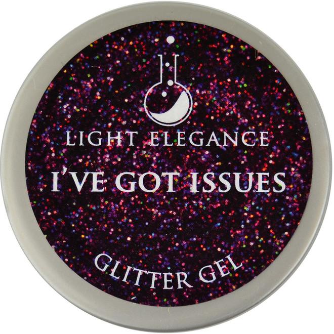 Light Elegance I've Got Issues Glitter Gel (UV / LED Gel)