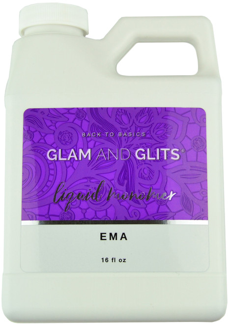 Glam And Glits EMA Monomer for Acrylic Powder (16 fl. oz. / 473 mL)