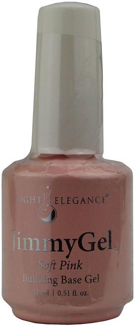Light Elegance JimmyGel Soak Off Building Base Gel - Soft Pink (0.51 fl. oz. / 15 mL)