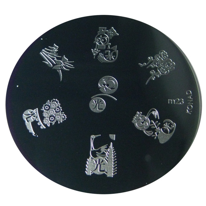 Image Plate #M23 (Assorted Design) by Konad Nail Art