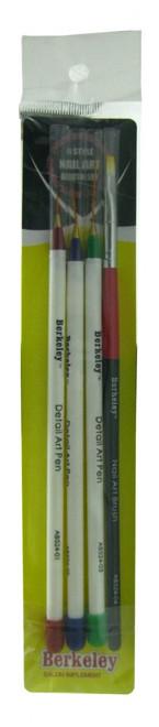 4 Pc Nail Art Brush Set by Berkeley