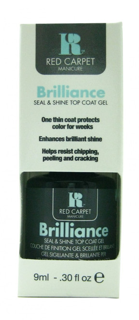 Brilliance Seal And Shine Top Coat Gel (LED or UV Cure) by Red Carpet Manicure