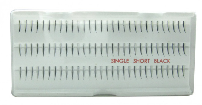 Red Cherry Lashes Singles Short Red Cherry Lashes (Black)
