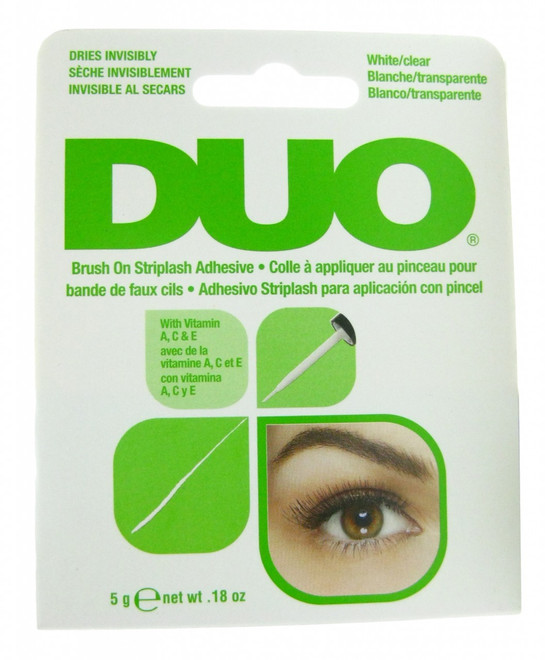 Duo Eyelash Adhesive Duo Clear Brush On Striplash Adhesive  / Glue (0.18 oz)