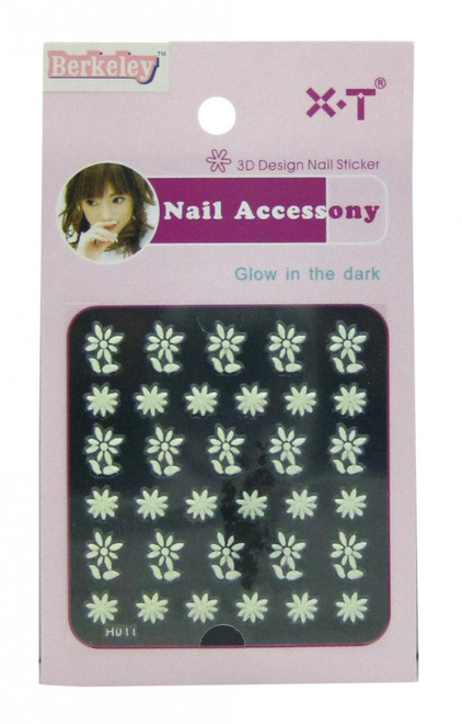 Berkeley Flowers Glow In The Dark 3D Nail Decal