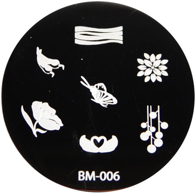 Bundle Monster Image Plate #BM-06: Butterfly, Flowers, Chili Peppers