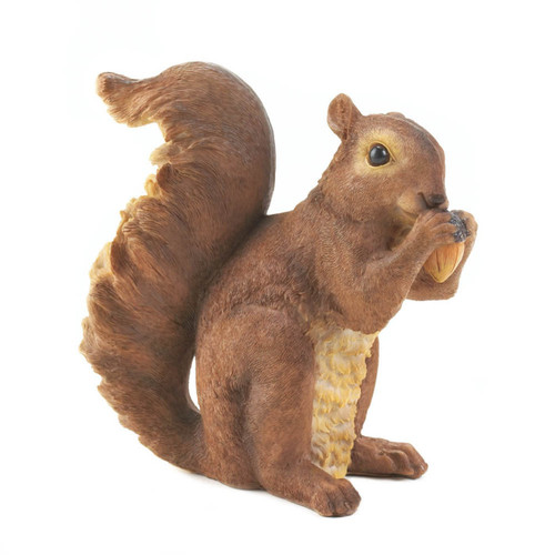 nibbling squirrel garden statue