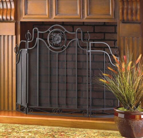 tuscan design fireplace screen