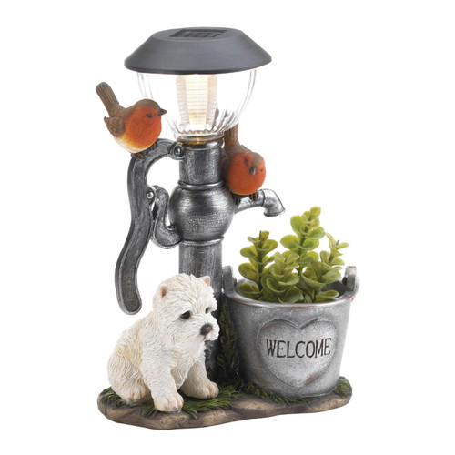 little pup and warer pump solar light