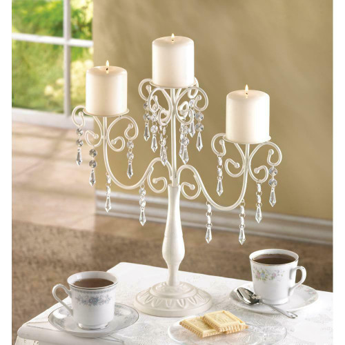 ivory elegance candelebra