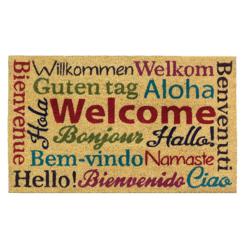 multi lingual welcome mat