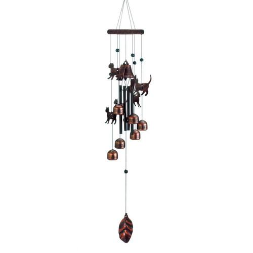 26 bronze cats wind chimes