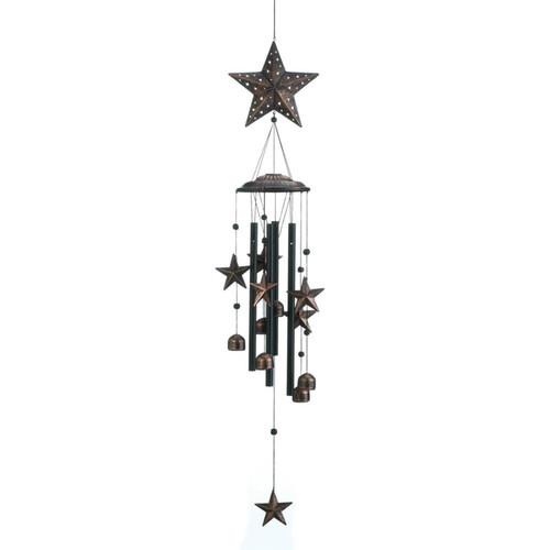 34 bronze star wind chimes