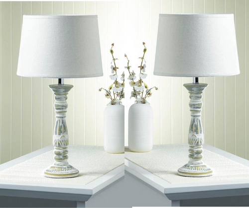 antique finished table lamps