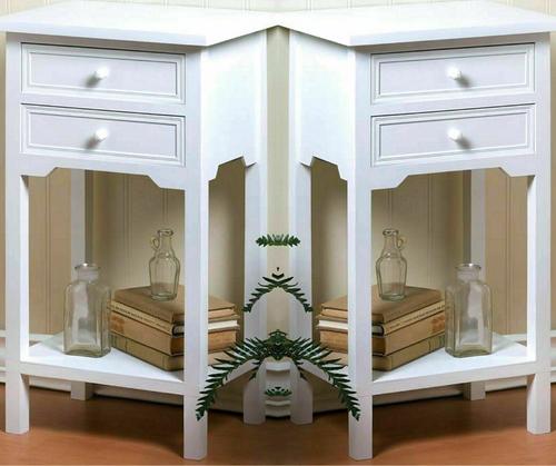 Pair of white nightstands