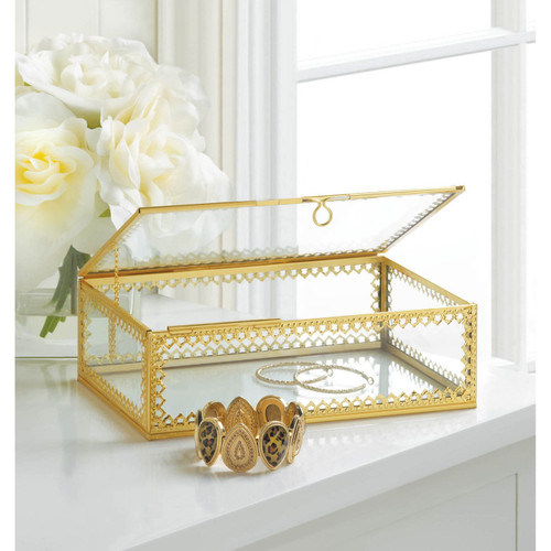 gold  motif jewlery box