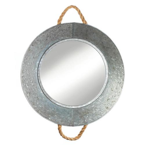 metal tin wall mirror