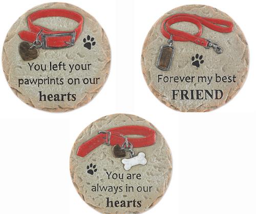 Pet memorial stepping stones